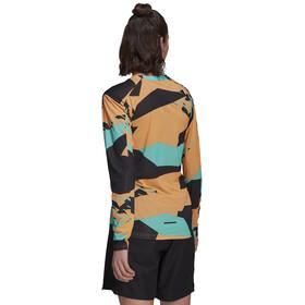adidas TERREX Primeblue Trail Graphic Longsleeve Shirt Women hazy orange